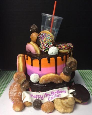 Donut themed cake