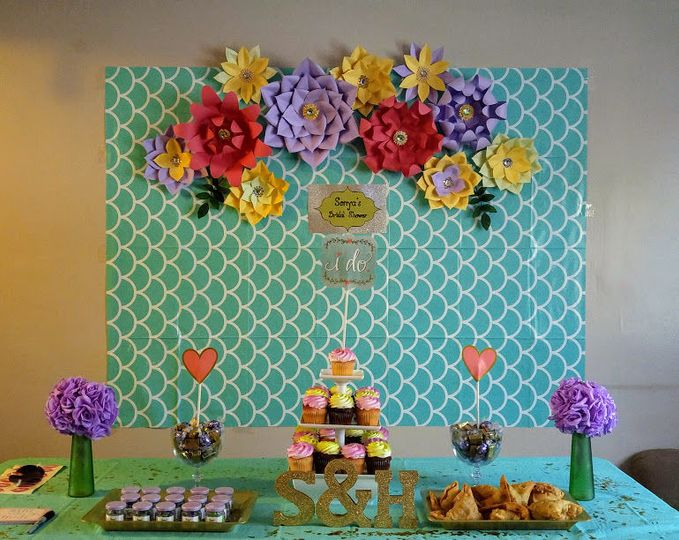 Spring Themed Bridal Shower Display - Mar. 2018
