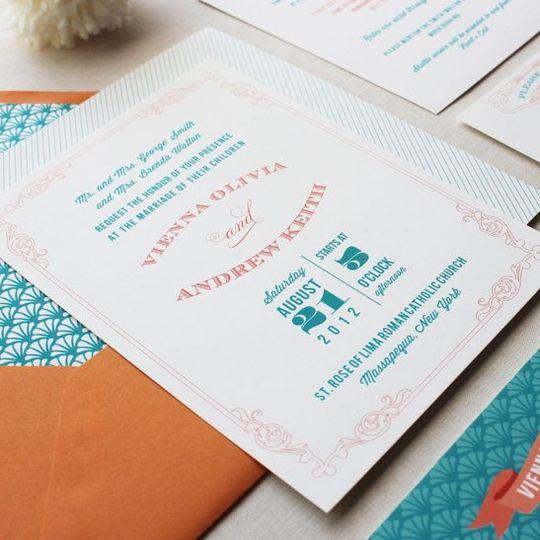 Antiquarian wedding invitation