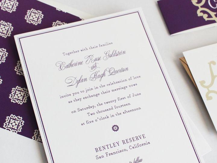 Tmx 1353952772786 BELLEVUEweddinginvitation Santa Clara wedding invitation
