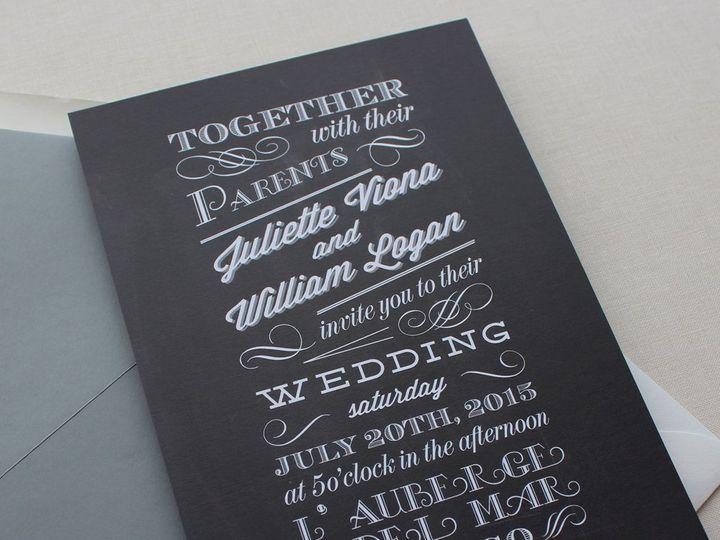 Tmx 1353952782356 CHALKBOARDweddinginvitation Santa Clara wedding invitation
