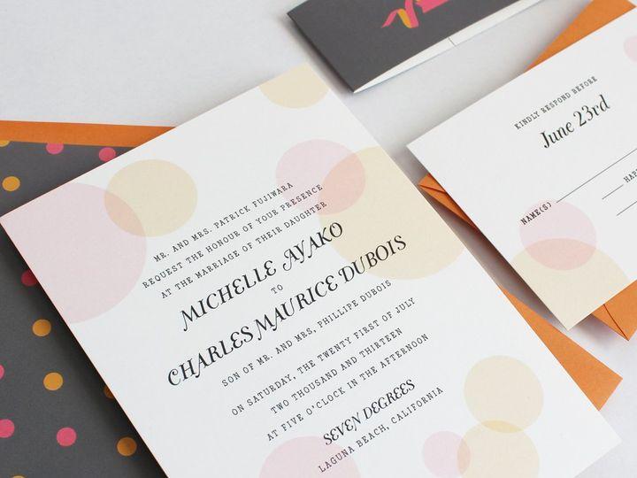 Tmx 1353952786625 COLORBUBBLEweddinginvitation Santa Clara wedding invitation