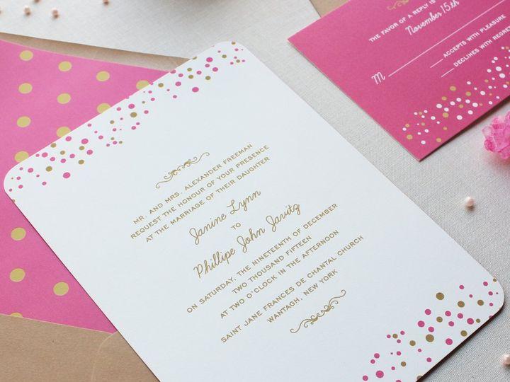 Tmx 1353952794393 CONFETTIDOTSweddinginvitation Santa Clara wedding invitation