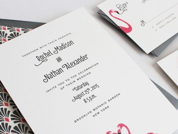 Tmx 1353952798519 FLAMINGOweddinginvitation Santa Clara wedding invitation