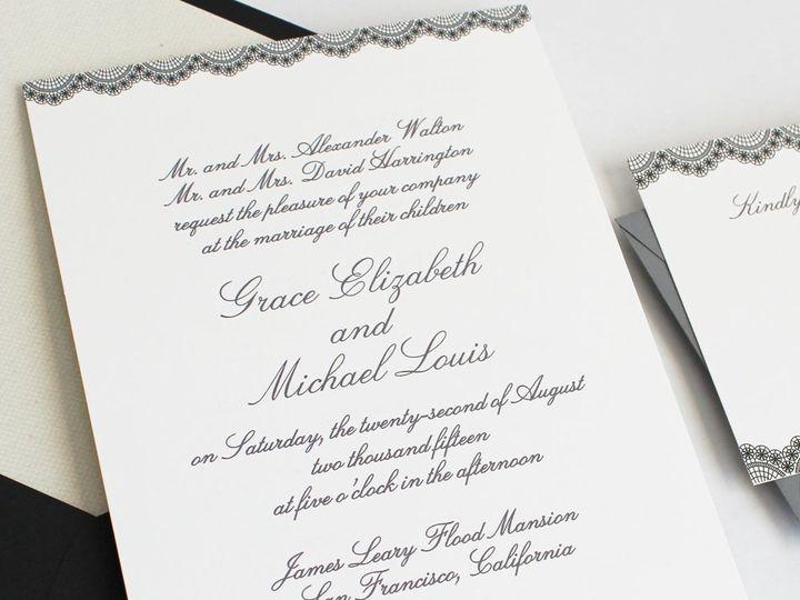 Tmx 1353952806917 LACEBORDERweddinginvitation Santa Clara wedding invitation
