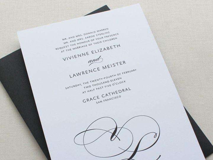 Tmx 1353952811771 LINEASCRIPTweddinginvitation Santa Clara wedding invitation
