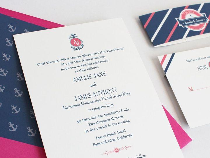 Tmx 1353952815959 NAUTICALSTRIPESweddinginvitation Santa Clara wedding invitation