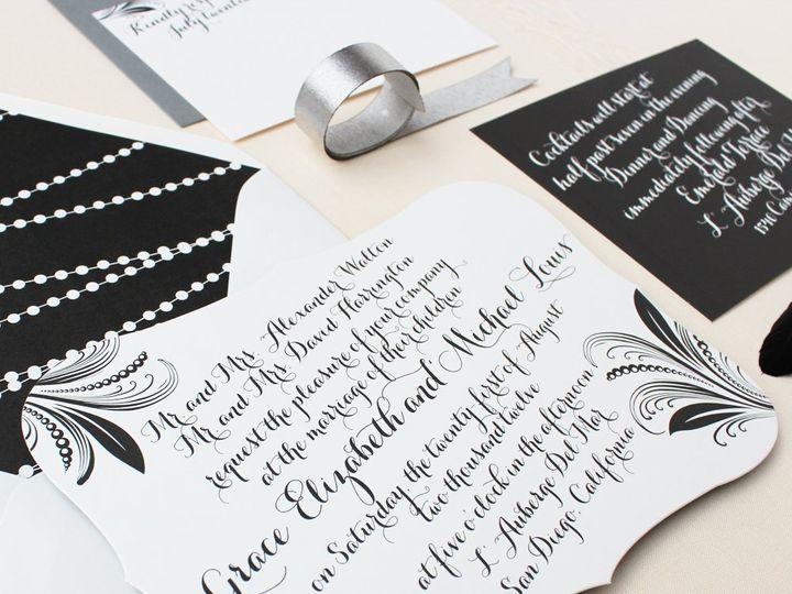 Tmx 1353952833660 PEARLANDFEATHERweddinginvitation Santa Clara wedding invitation