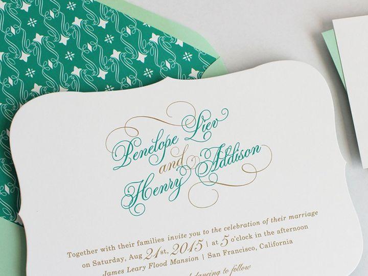 Tmx 1353952889474 SWIRLJADEweddinginvitation Santa Clara wedding invitation