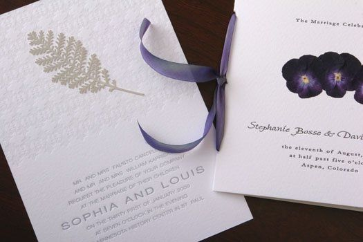 Letterpress printed on 100% cotton paper and embellished by hand with vibrant pressed botanicals.