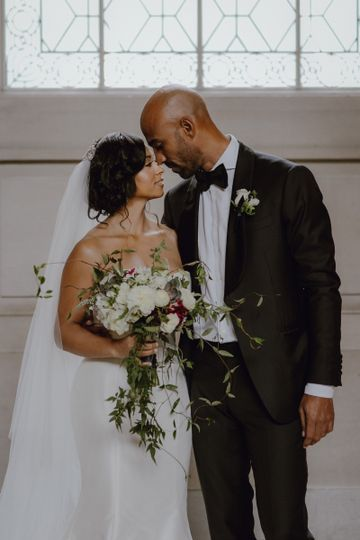 Elegant bride and groom