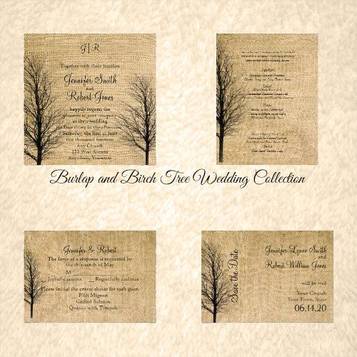 This rustic but elegant design, called Burlap and Birch Posh Wedding, has a beautiful country chic...
