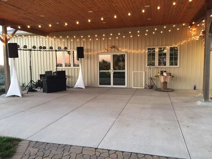 Dance floor on the patio
