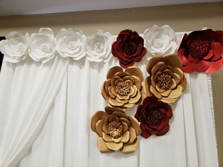 Sample curtain decoration