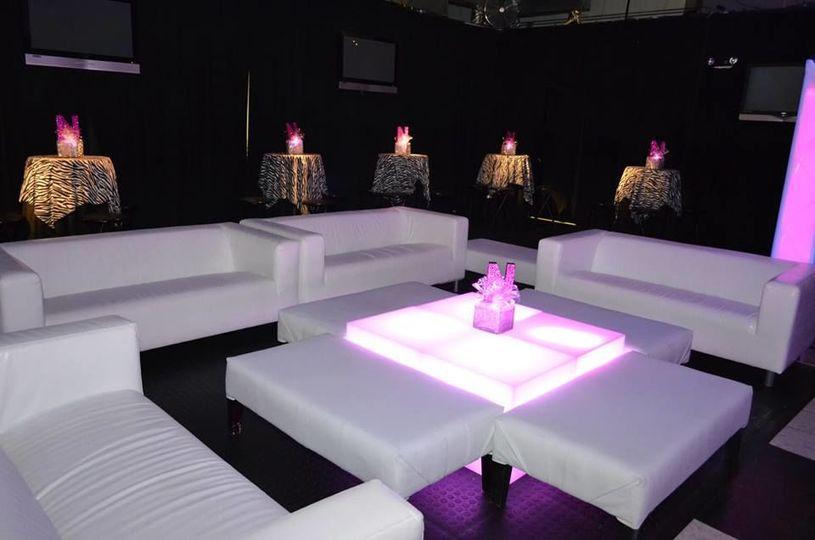 Decorated lounge set up