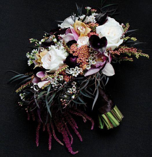 eggplant callas bouquet