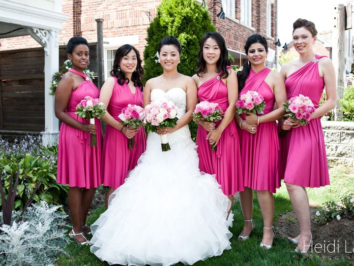 Tmx 1400162768587 Hot Pink And White For Bride And Bridesmaid Westbury, New York wedding florist
