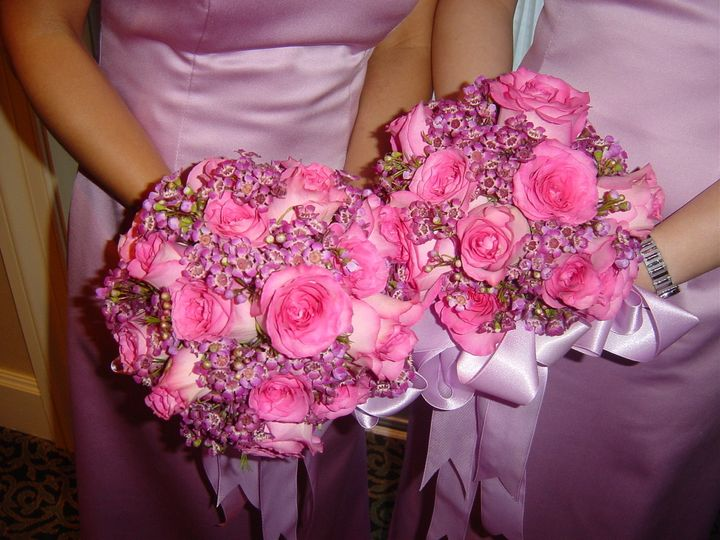 Tmx 1400162783918 Hot Pink Roses And Wax For Bridesmaid Westbury, New York wedding florist