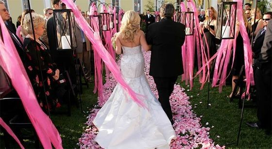 Tmx 1400162787507 Hot Pink Wedding With Rose Petals And Ribbon Westbury, New York wedding florist