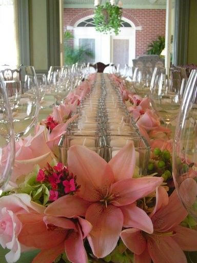 Tmx 1400162796564 Pink Runner Flowers With Candle Westbury, New York wedding florist
