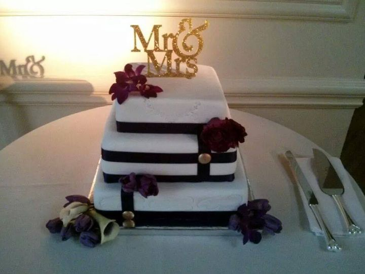 Tmx 1415293760609 Purple Lavender Cake With Gold Decor   Copy Westbury, New York wedding florist