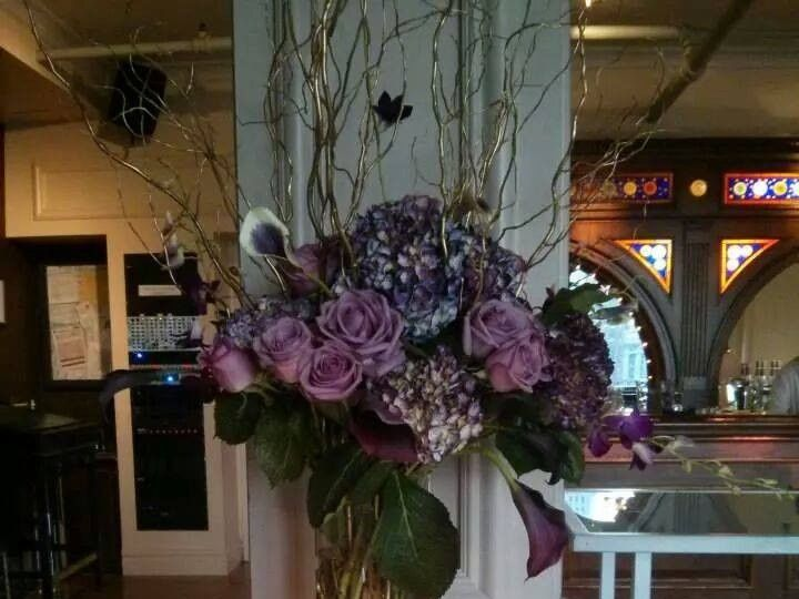 Tmx 1415293766211 Purple Lavender Tall Arrangement Card Table Westbury, New York wedding florist