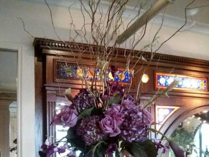 Tmx 1415293776206 Purple Lavender Tall Arrangement At The Bar Westbury, New York wedding florist