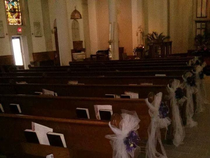 Tmx 1415293779526 Purple Lavender Pews Westbury, New York wedding florist