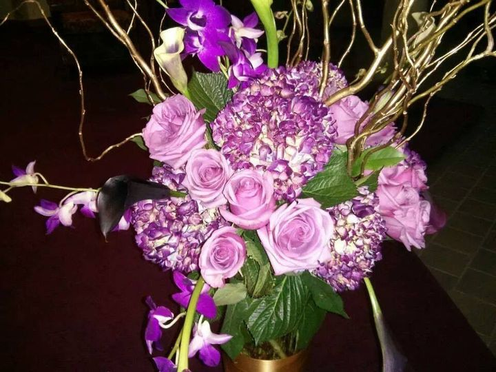 Tmx 1415293795269 Purple Lavender Cylinders With Gold Branches   Cop Westbury, New York wedding florist