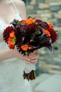 Tmx 1424805446877 Orange Freesias With Black Callas And Dahlias Brid Westbury, New York wedding florist