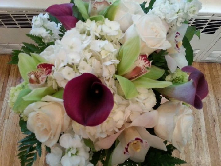 Tmx 1424805499867 Green Hydrangea And Burgundy Callas12 Westbury, New York wedding florist