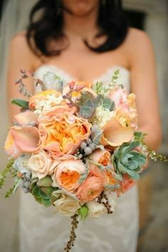 Tmx 1424805552021 Kelly And Kerry Peach Callas And Garden Rose Succu Westbury, New York wedding florist