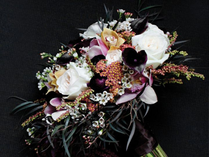 Tmx 1424805561441 Eggplant Callas Bouquet Westbury, New York wedding florist