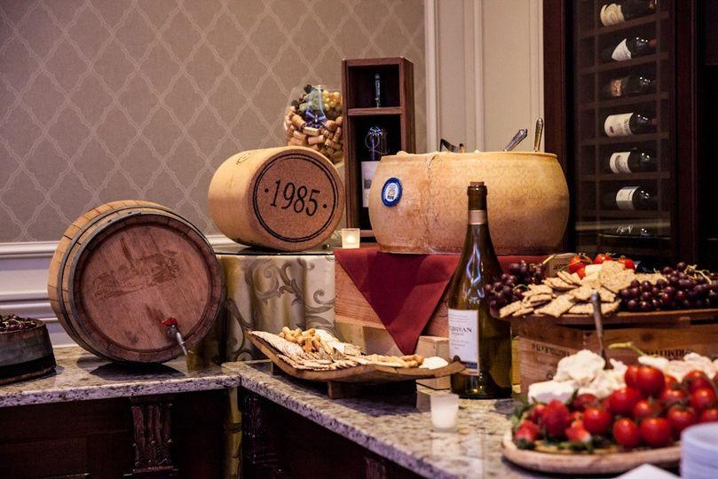 International cheese & wine cart