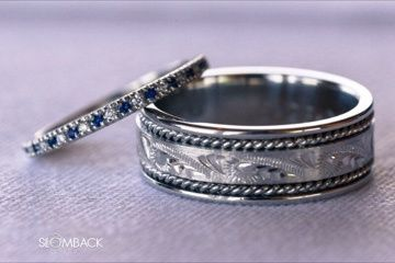 Wedding bands made in platinum