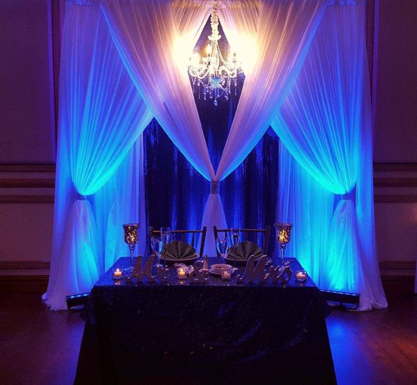 Head table lighting