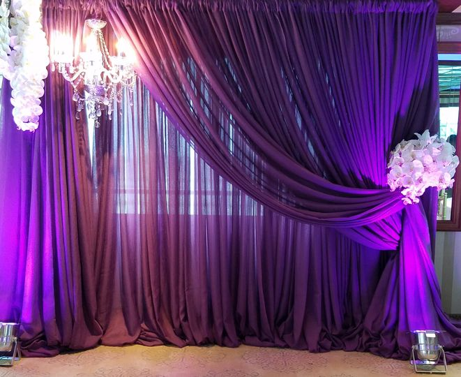 Drapes and uplights