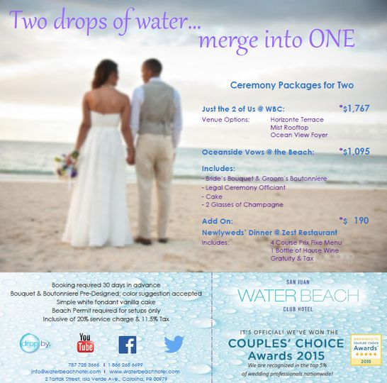ceremony package for 2