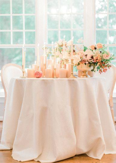 Cream table cloths