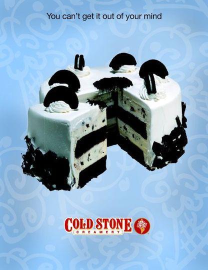 Cookies & Creamery - Moist Devils Food Cake, Sweet Cream Ice Cream, & OREO Cookies wrapped in a...