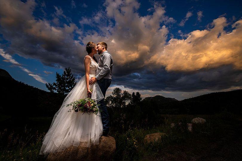 estes park wedding sunset wedding photo 51 139720 157749548341554