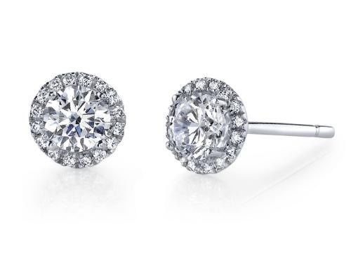 Tmx 1429825650202 Haloearrings1 Fairfield wedding jewelry