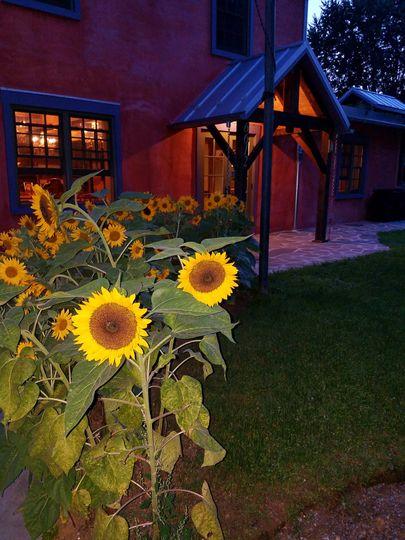 Entrance lodge at night