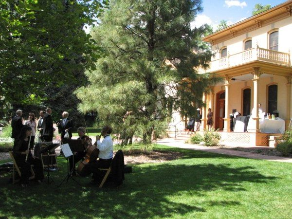 Playing a wedding at Richards Hart Estate in Lakewood, Colorado