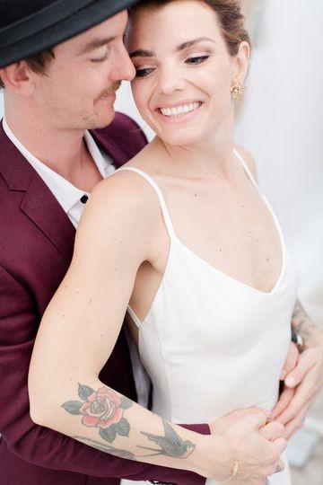Couple portrait in Ios wedding