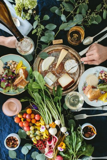 Seasonal menus sourced from local farms and clean, sustainable meat sourcesPhoto: Love Lit Wedding...