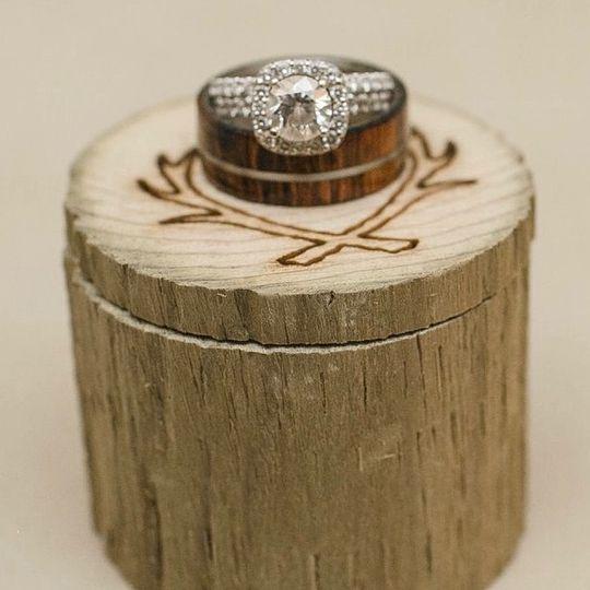 A lovely setting for rings