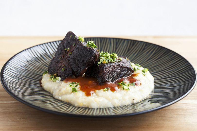 Beef short rib w local polenta