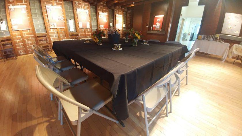 Table and chairs setup