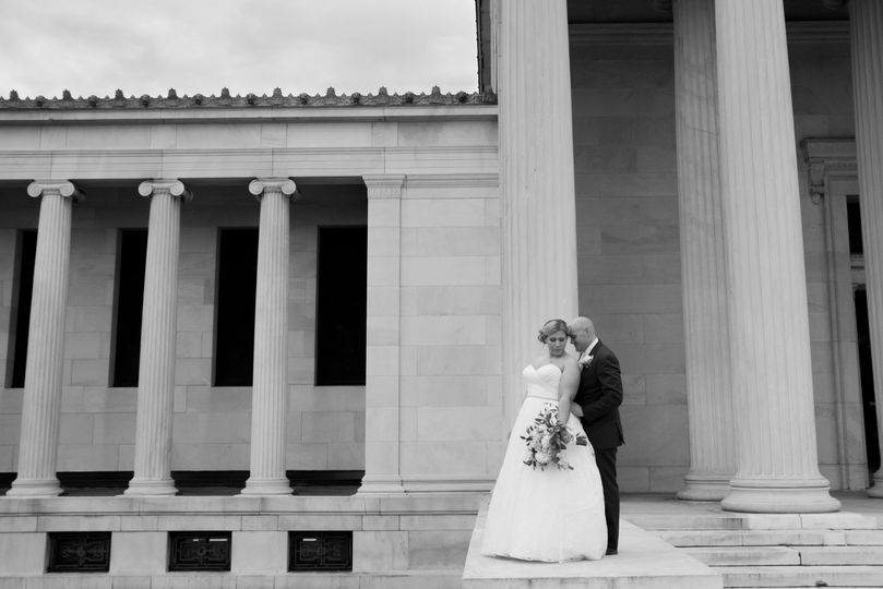 Albright Knox Wedding Portrait